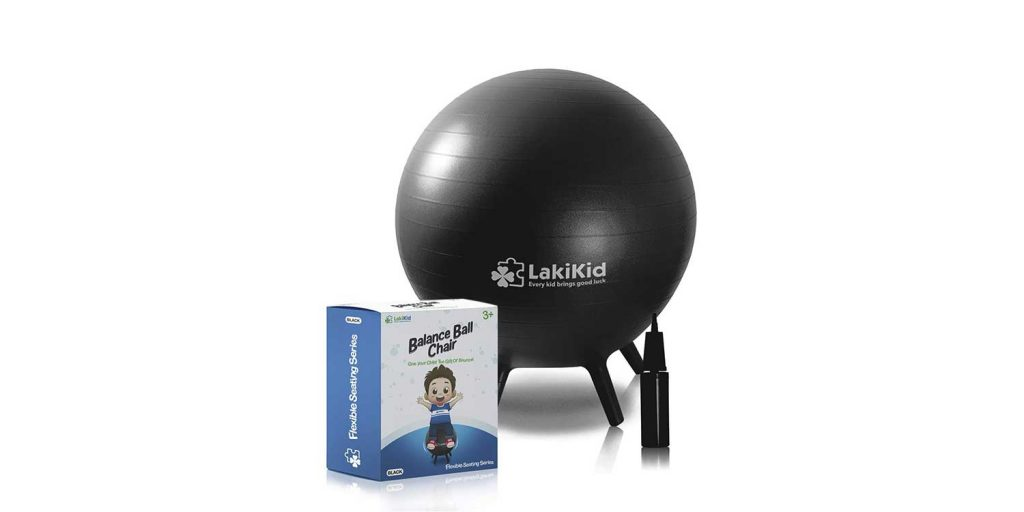 LakiKid Flexible Stability Ball Chair with Legs