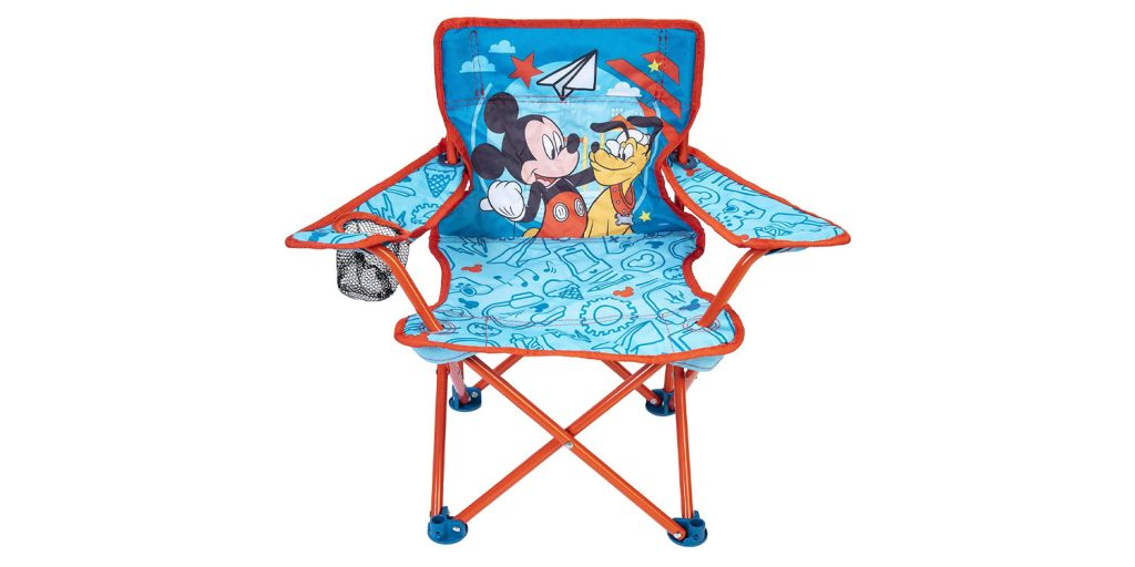 Evergreen Kids Mickey Mouse Camp Chair Blue